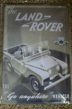 Land Rover  Tin Metal Sign Painted Poster Comics Book Superhero Wall Decor Art