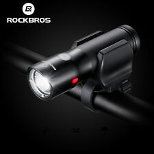 Rockbros Bike Front Light Bicycle LED Lamp Headlight Flashlight USB Rechargable