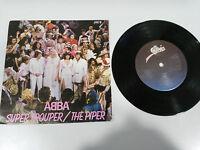 """ABBA SUPER TROUPER THE PIPER 1980 SINGLE 7"""" VINYL UK EDITION EPIC"""