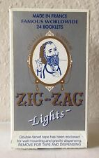 "ZIG ZAG WHITE ""LIGHTS"" CIGARETTE ROLLING PAPER 24 BOOKLETS."