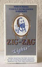 "ZIG ZAG WHITE ""LIGHTS"" CIGARETTE ROLLING PAPER 24 BOOKLETS."