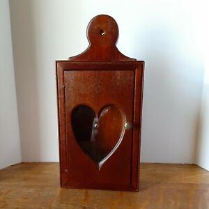 Wood Shadow Box/ Display Box , Door With Heart Cut Out
