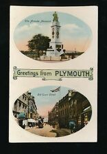 Devon Greetings from PLYMOUTH bi-view c1900/10s? Tuck #1927 PPC