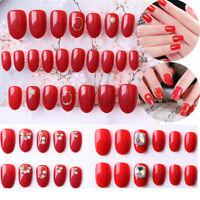 Design Glitter Pure Color False Nails Nail Extensions Fake Nails Nail Tip Patch