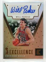 2017-18 Will Perdue 34/49 Auto Panini Essentials Autographs Called To Excellence