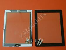 For iPad 2 Touch Screen Digitizer  Replacement Black with Home Button Glue Full