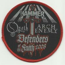 OPETH ARCH ENEMY defenders of faith 2008 WOVEN SEW ON PATCH - metal hammer
