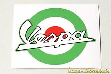 """Dekor Aufkleber """"Vespa Target"""" - Grün - V50 PK Italien Italy Italia Mod Sticker"""