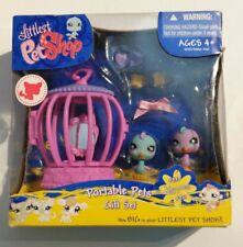 Littlest PetShop - Happiest Portable Gift Set #930 - #931 Blue&Purple Parakeets