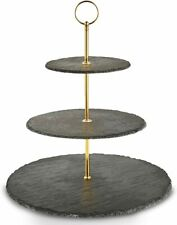 3 Tier cake stand Von Shef Brand new in box Silver fittings