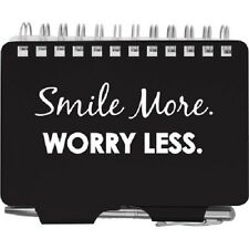 #2982 Wellspring Password Organizer Book w/Pen SMILE MORE WORRY LESS Black/White