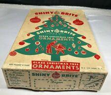 12 Vintage Shiny Brite Mercury Glass Mica UFO Round Indent Christmas Ornaments