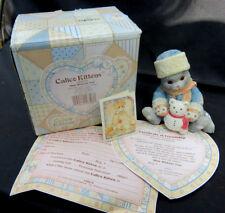 "1994 Calico Kittens ""Blue Without You"" Enesco Russian Cat Figurine in Box w/Coa"