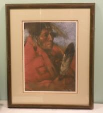 Native American Indian Navajo Clifford Beck Quiet Pride stone lithograph print