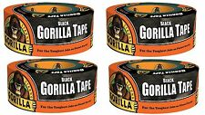 "Gorilla 6001203-4 Duct Tape (4 Pack), 1.88"" x 12 yd., Black"
