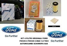 KIT TAGLIANDO FILTRI ORIGINALI FORD FOCUS 2 C-MAX 1.6 TDCi FINO AL 10/2005