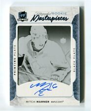 2016-17 The Cup  Auto Rookie 1/1 Printing Plate Black  Mitch Marner # ULT-149