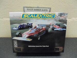 """Scalextric C4189a  """"1976 British Grand Prix"""" triple  gift pack BNIB"""