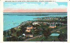 1920's Bird's Eye View of Water Witch in Atlantic Highlands, NJ New Jersey PC