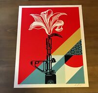 Shepard Fairey Obey AR-15 LILY Signed Numbered Screen Print