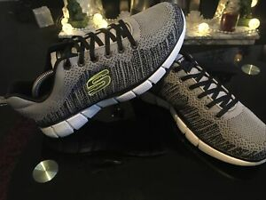 MENS SKECHERS RELAXED FIT AIR COOLED MEMORY FOAM TRAINERS SIZE UK 10