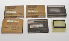 Nikon lot of 6 variuous focusing screens for various cameras, exc+/exc++++