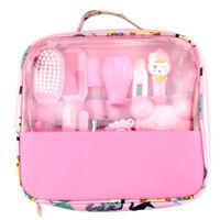 13 Pcs Baby Kids Health Care Groom Set Brush Nail Hair Thermometer Kit Pink F