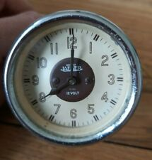 "Vintage Jaeger 12v Clock 2"" Diameter Mounting Hole Car"