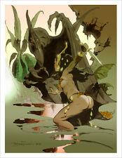DIAN & MAHAR IN PELLUCIDAR! ERBian Mike Hoffman Art Print SIGNED!