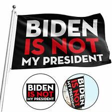 New listing 3x5ft Trump 2024 Campaign Flag,Anti Biden Never Biden ,Biden Is Not My President