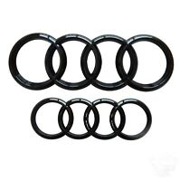 AUDI BADGE EMBLEM GLOSS BLACK FRONT & REAR 273x94mm 193x66mm A3 A4 A5 A6 S line