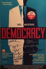 DEMOCRACY Cast Signed Broadway Poster Windowcard
