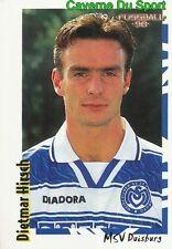 234 DIETMAR HIRSCH GERMANY MSV DUISBURG STICKER FUSSBALL 1998 PANINI