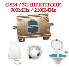 GSM W-CDMA 900/2100MHz Cell Phone Signal Booster Amplifier Repeater Vodafone