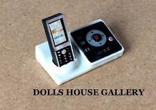 Teléfono Inalámbrico + Contestador Casa de muñecas en miniatura 1:12 Th Scale