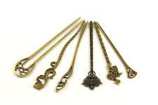 Haarstab Haargabel Haarnadel bronze Retro Vintage Haarschmuck Hair Stick A621