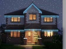 NEW ICICLE MINI SCULPTURE LED 100PK BRIGHT BLUE LIGHT 8 FUNCTION CHRISTMAS LIGHT