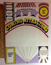 10 1960s FUN MOVIE WRITING PAPER BECOMES A MAILING ENVELOPE 4 PULL OFF TABS #17a