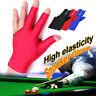 AS_ Billiard Elastic Anti-slip Snooker Cue Pool Shooters Three Fingers Gloves To
