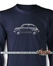 Fiat 600 2 Doors Coupe 1955 - 1969 Long Sleeves T-Shirt  Multiple Colors & Sizes