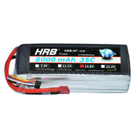 HRB 4S 14.8V 8000mAh 35C 70C RC LiPo Battery for Airplane Drone Boat Hobby Racer