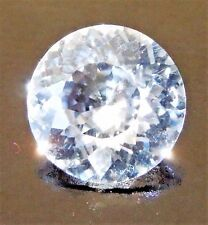 Round 7 mm 1.6 ct More Facets Cut VVS White Sapphire Brilliant Diamond Solitaire
