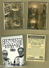 1999 Bleachers DALE EARNHARDT & DALE JR. 23KT Gold Card Signature Box COA White