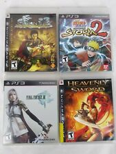 PS3: Heavenly Sword, Genji Days of Blade, Final Fantasy Xlll, Naruto Lot of 4