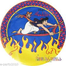 DISNEY ALADDIN SMALL PAPER PLATES (8) ~ Birthday Party Supplies Cake Dessert