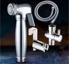 Toilet Brass Handheld Bidet Spray Douche Shower Shattaf Kit Set with Wall Holder