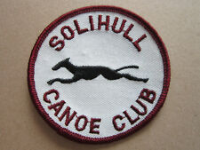 Solihull Canoe Club Sport Woven Cloth Patch Badge