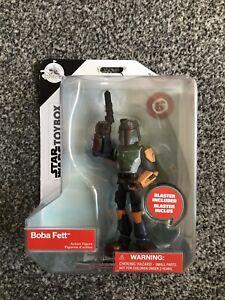 Disney Toybox Star Wars Boba Fett Figure with Blaster 5 inch New sealed