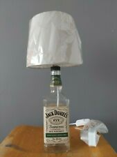 Jack Daniels Hand Made JD Bottle Lamp with Lamp Shade Perfect Gift For Him