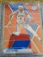 2019-20 Panini Mosaic Bruce Brown Red Wave Tmall Detroit Pistons